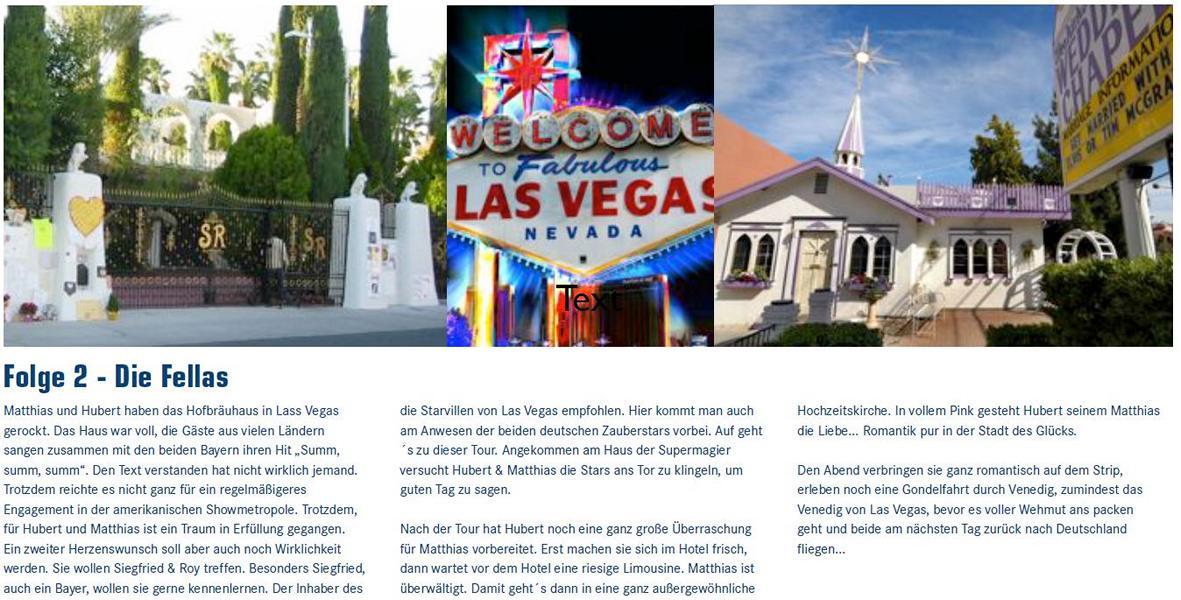 Die Fella Die Schlagerstars in Las Vegas